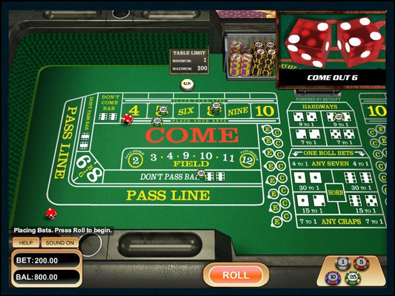 Craps Online - Play With No Registration!